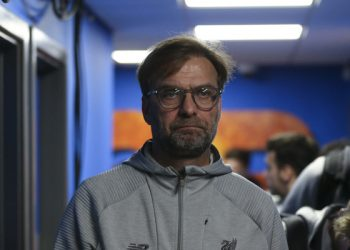 SHREWSBURY, ENGLAND - JANUARY 26: Jurgen Klopp the head coach / manager of Liverpool during the FA Cup Fourth Round match between Shrewsbury Town and Liverpool at New Meadow on January 26, 2020 in Shrewsbury, England. (Photo by James Baylis - AMA/Getty Images)