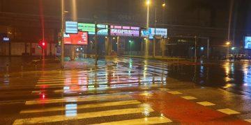 Полициски час Скопје, Транспортен центар. Фото: Ј. Ѓорѓиоски/Фронтлајн