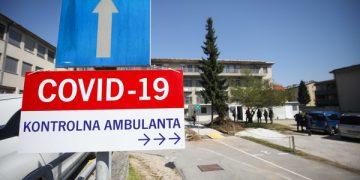 Ljubljana, pred infekcijsko kliniko UKC Ljubljana. Predstavitev nove sprejemne ambulante, ki bo izboljsala sprejem in obvladovanje bolnikov s koronavirusom.