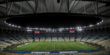 epa08294895 General view of the Maracana without fans during the game between Flamengo Vs. Portuguesa for the Rio de Janeiro soccer championship, in the empty Maracana stadium, in Rio de Janeiro, Brazil, 14 March 2020. The soccer matches scheduled for today and tomorrow in most Brazilian stadiums, including Rio de Janeiro and Sao Paulo, will be behind closed doors, over fears that large public gatherings will facilitate the expansion of the coronavirus in Brazil.  EPA-EFE/Antonio Lacerda