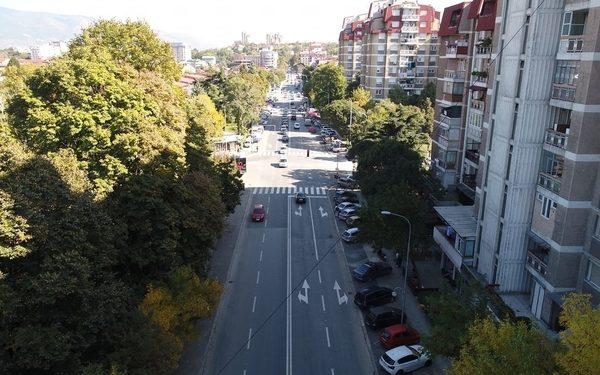 Улица Џон Кенеди, Општина Чаир, Скопје. Фото: Град Скопје