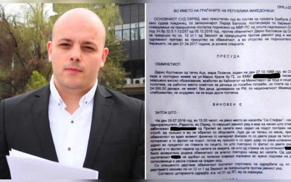 Дарко Костовски од ВМРО-ДПМНЕ е уште еден од низата кандидати за градоначалници на партијата со сомнително минато. Фото скриншот Слободен печат